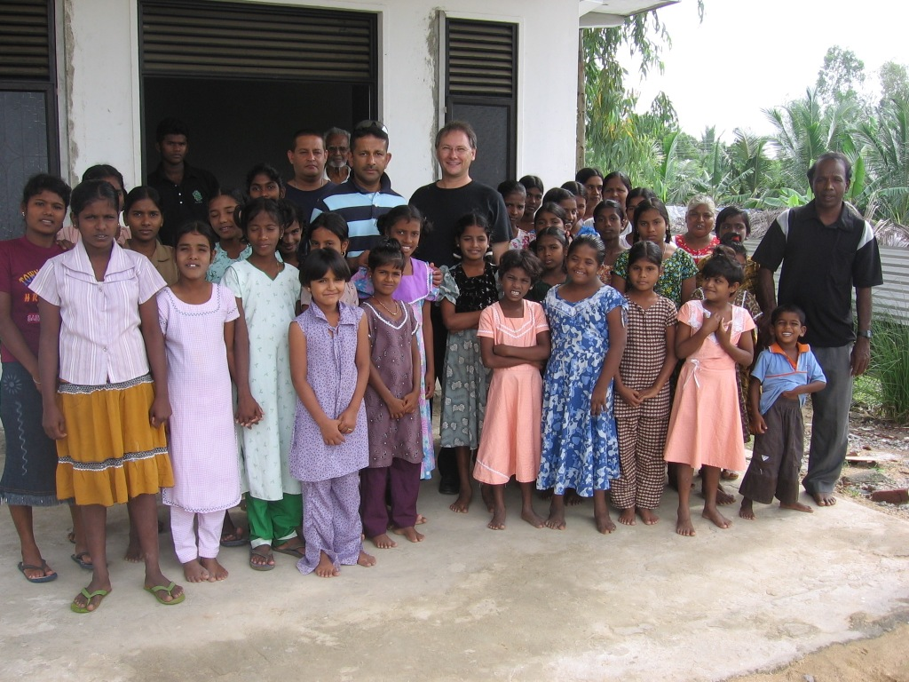 Ps Bob Cotton with Ps Danny at the Sri Lankan Girls Home