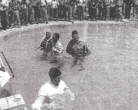 Baptism in Saddam Hussein's Swimming pool