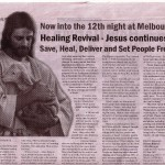 Melbourne Healing Revival In National Communtiy Newspaper In Australia