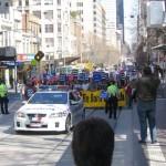 Police Escort Crowd