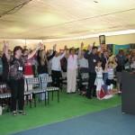 Crowd worshipping