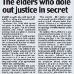 Elders Who Dole Out Justice In Secret