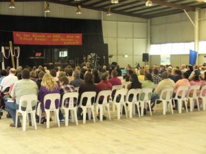 Crowd Receiving the Word of God