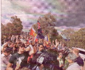 Christians on prayer offensive on Mount Ainslie - amongst them some protesters