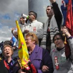 Christians pray and declare Victory on satanic altar on Mount Ainslie in Canberra, Australia