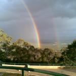 Double Rainbow on Mount Ainslie