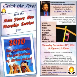 New Years Eve Worship - Australia for Jesus in 2010