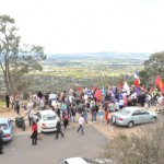 Some of the Christians gathered on Mount Ainslie