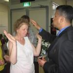 Pastor Daniel prays for healing
