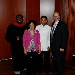 Dr Jackson and Pastor Wayne with Dr Daniel and wife Maryse