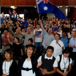 Youth joining Australia for Jesus praise and worship