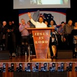 Dr Daniel leading the body of Christ in proclaiming Jesus is Lord