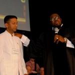 Dr Jackson commending Pastor Daniel as God's prophetic leader to Australia