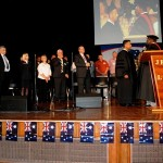 Dr Jackson conferring honorary doctorate of divinity to Pastor Daniel