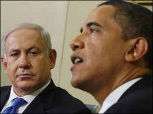 Older photo of Obama and Nethanyahu as Obama censored all media coverage of their recent meeting in D.C.