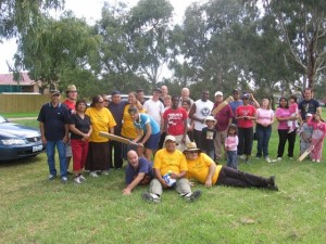 Some of CTFM family enjoying a picnic, cricket, and fellowship