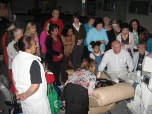 Counsellors watching a live ultrasound