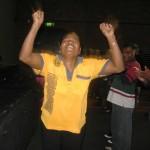 Woman celebrating her healing