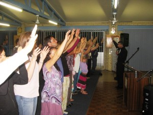 Worshipping Jesus in Qld