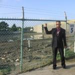 Pastor Daniel at potential site for CTFM base