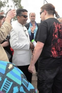 Steve confronting Pastor Daniel on Mount Ainslie