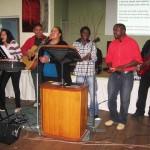 Pastor Daniel's daughter Shannen leading worship