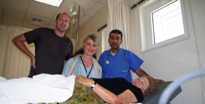 Diana with Dr Murray and Geraldine of CTFM in Hospital