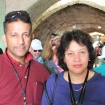 Pastor Daniel and his wife leading the CTFM tour in Israel