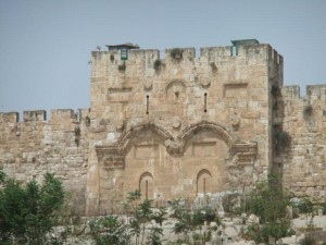 Eastern / Golden Gate where King Jesus rides through after His 2nd Coming to Jerusalem, Israel