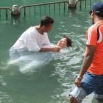 Baptising in the Jordan River