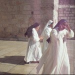 Catholic nuns coming out of the Church of Nativity Bethelem