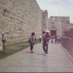 Ps Daniel, Maryse, and Brianna at Jaffa Gate in Jerusalem