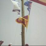 Flags of Australia, Israel, and Sri Lanka raise on Sea of Galilee boat ride