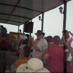 Singing and dancing on Sea of Galilee