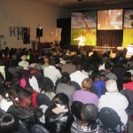 Ps Daniel encouraging people of God at Watoto