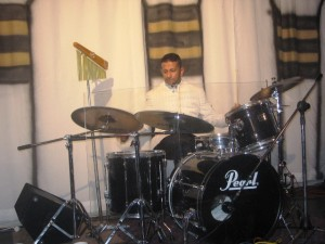 Ps Daniel leading high praise on drums