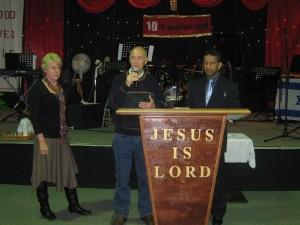 Brian sharing his testimony