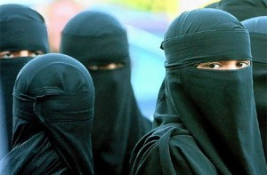burka clad muslims