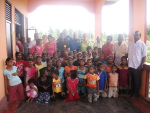 CTFM team with God\'s precious children at an orphanage in Sri Lanka