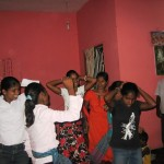 Girls at orphange perform special dance item