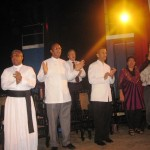 Methodist minister, Vijaya Corea and other ministers with Pr Daniel on stage