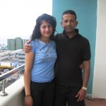 Pr Daniel and daughter Shannen in SL