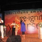 Pr Daniel's daughter Shannen leading worship with SL team