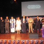Ministers on stage and who led in prayer