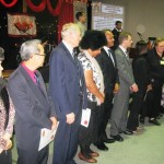 Newly credentialed ministers at the altar