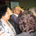 Pr Daniel and his wife praying for credentialed ministers