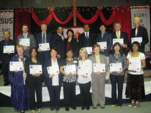 Pr Daniel and wife Maryse with some of the newly credentialed ministers