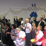 Some of the congregation worshipping Jesus