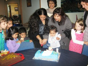 Baby Shameer, Mother, Grandmother, and others at CTFM celebrate his 1st Birthday