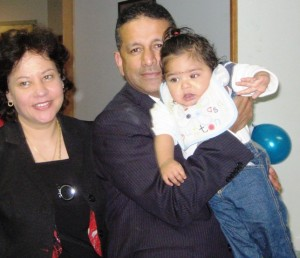 Baby Shameer with Pastor Daniel and wife Maryse